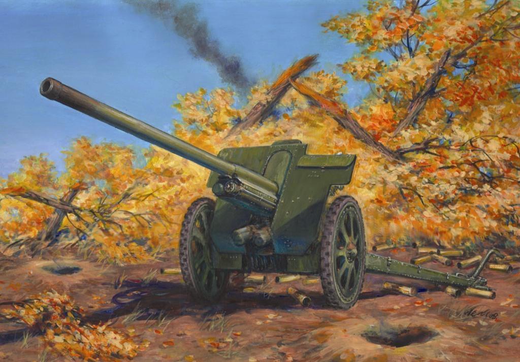 76-мм Дивизионная пушка Ф-22 обр.1936г., 1/35, (ICM 35702). 1307613443_35702-sov-div-gun-f-22