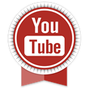 كود HTML الترحيب بالعضو بعد تسجيل الدخول Youtube-round-ribbon