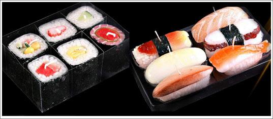 شموع غاية في الروعة Bougie-tendance-sushi
