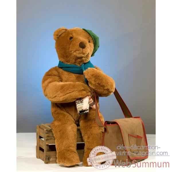 Les  Nounours  - Page 5 Automate-decoration-noel-automate-teddy-bear-assis-sur-une-boite-852