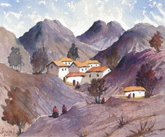 الفنان التشكيلي البيروفي Hugo Lecaros 540_Nido_indio_18x20