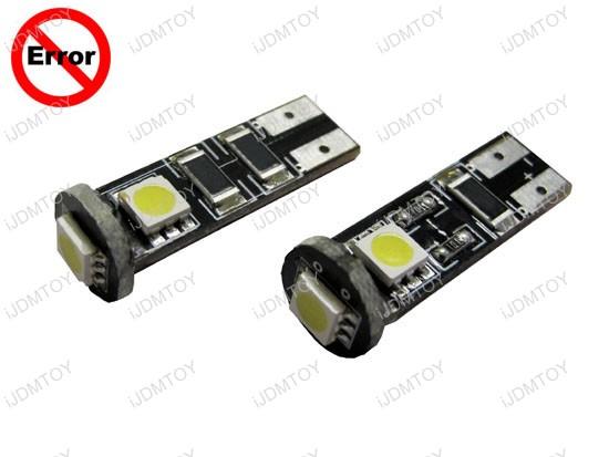 Lâmpadas LED - troca das halógenas. Error-Free-T10-01