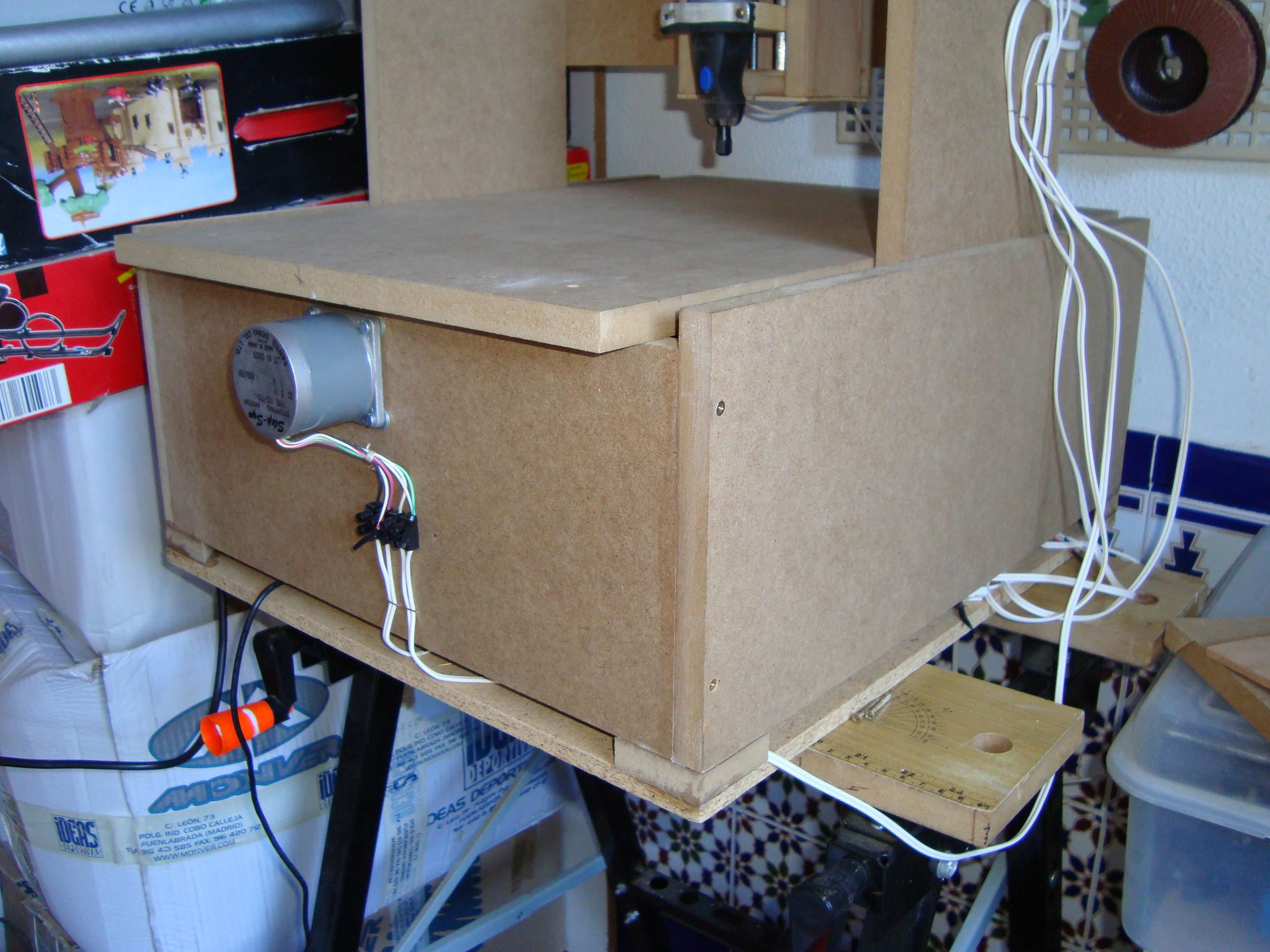 Construir una fresadora CNC Cajon_montado