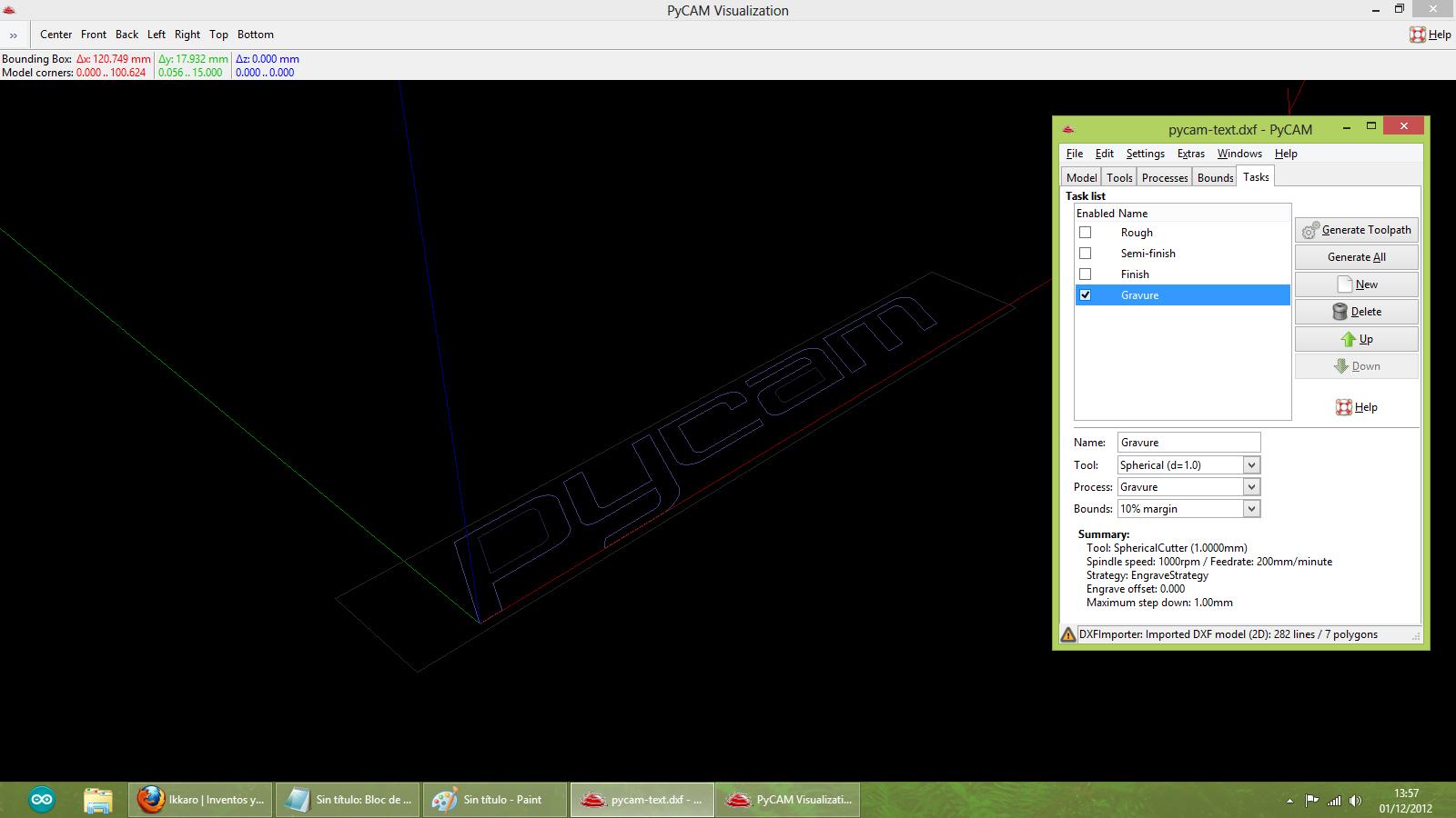 Construir una fresadora CNC Pycam_gravure
