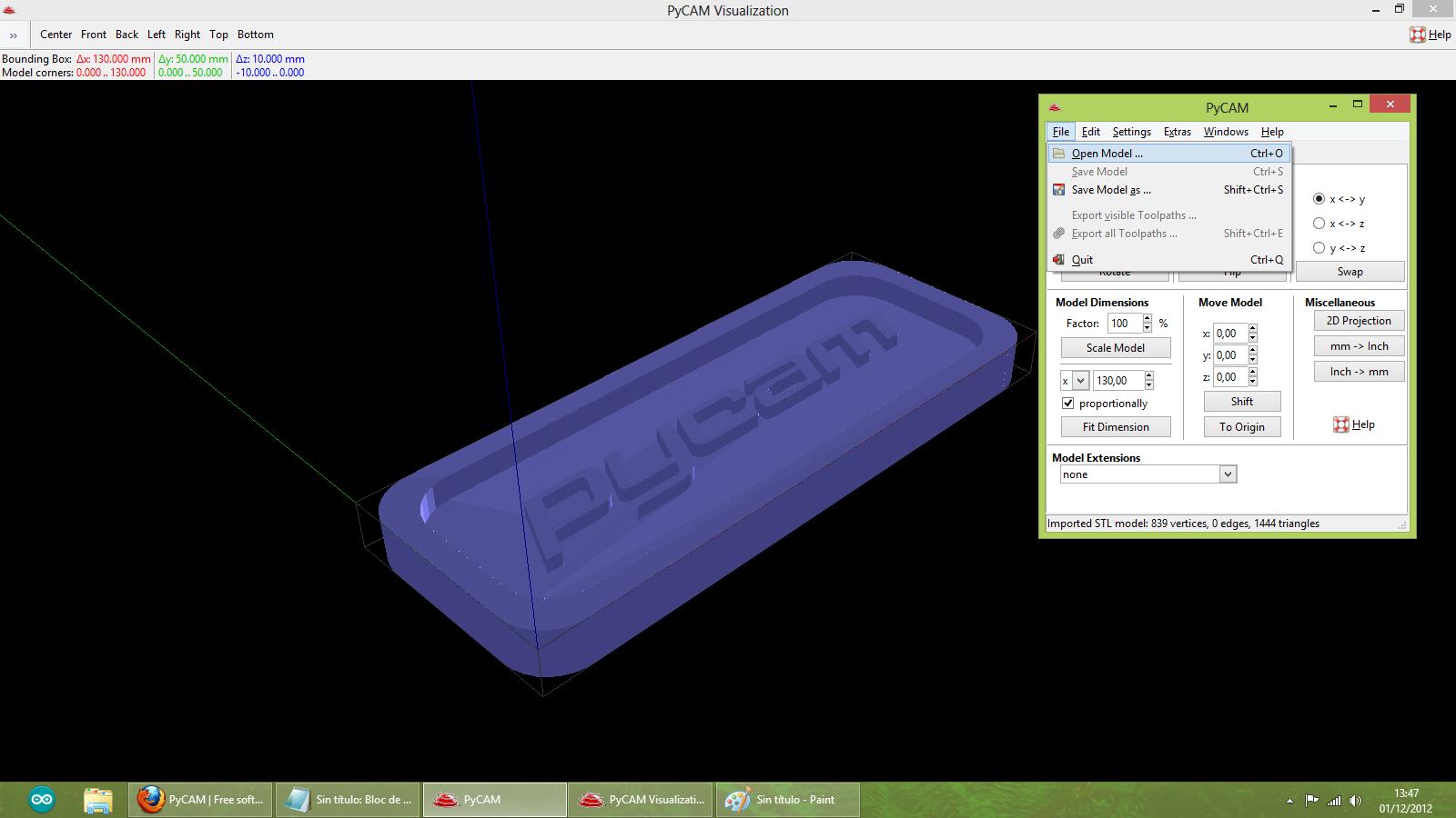 Construir una fresadora CNC Pycam_open_new