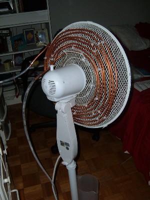 como hacer un clima domestico barato o aire acondicionado  casero. Aire-ventilador