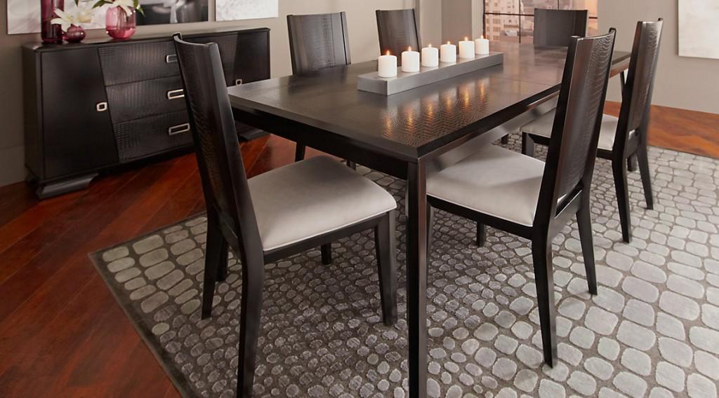 طاولات طعام Dr_rm_biscayne2-Sofia-Vergara-Biscayne-Black-5-Pc-Rectangle-Dining-Room-1024x568