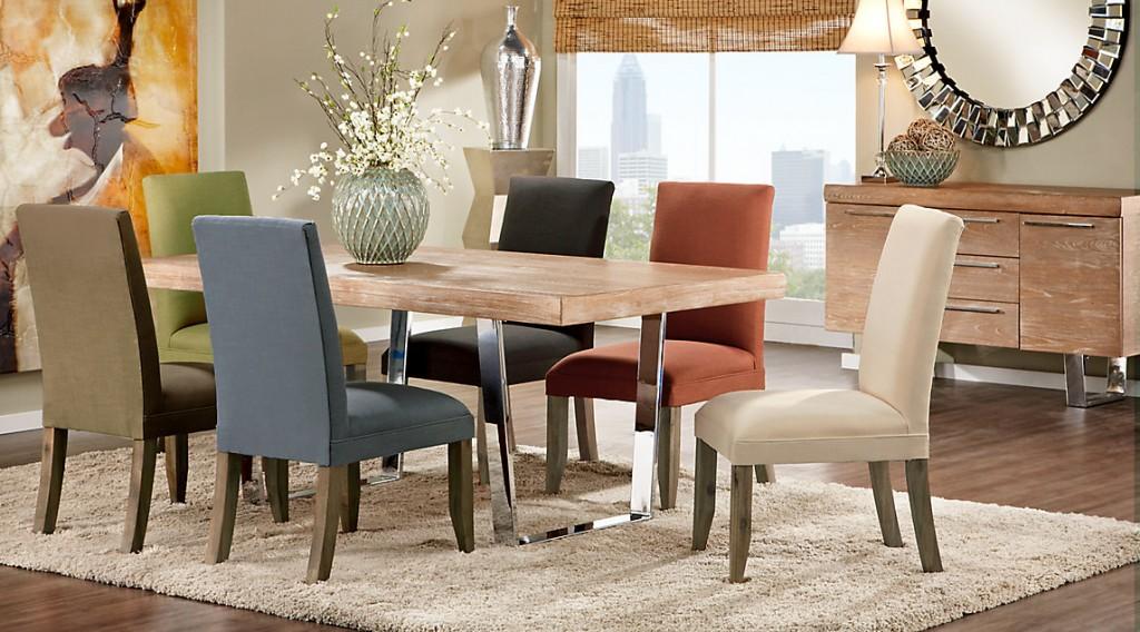 طاولات طعام Dr_rm_sanfrancisco3-Cindy-Crawford-Home-San-Francisco-Ash-5-Pc-Dining-Room-with-Blue-Chairs-1024x568