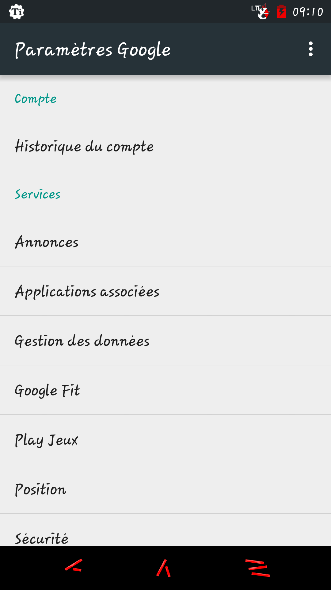 [VIE PRIVEE-PARAMETRES GOOGLE] Application Paramètres Google au microscope 143013691279053