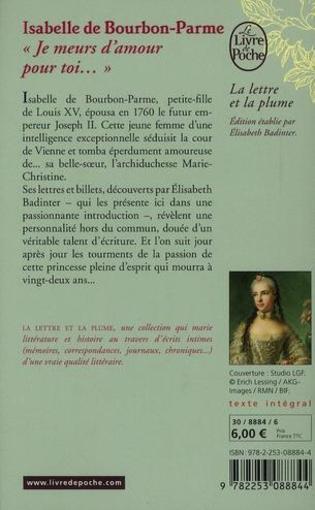 [Bourbon-Parme, Isabelle (de) & Badinter, Elisabeth] Je meurs d'amour pour toi 33095679_6972257