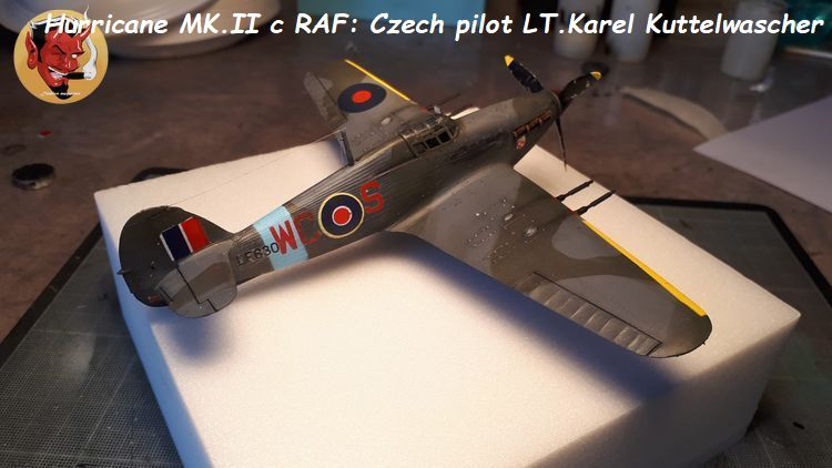 [mister Craft]Hawker Hurricane MK.IIC Czech LT Karel Kuttelwasher 20190708144721