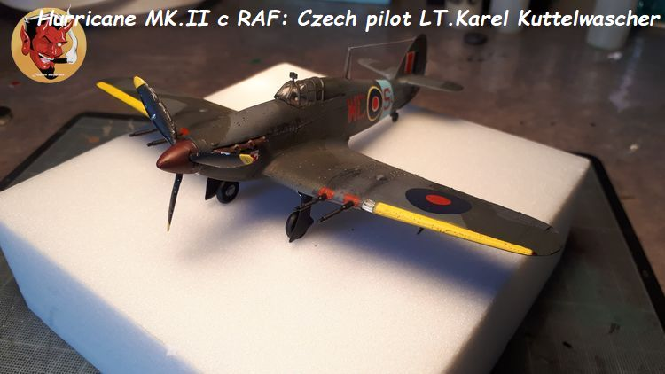 [mister Craft]Hawker Hurricane MK.IIC Czech LT Karel Kuttelwasher 20190708144754