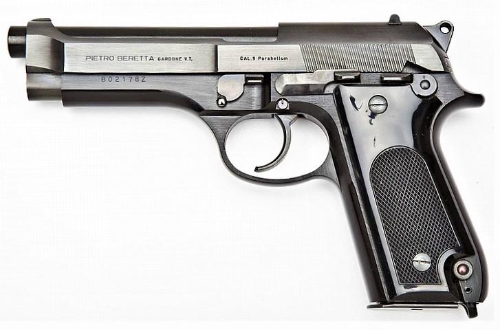Beretta 92 Beretta_92_early_stepped_slide