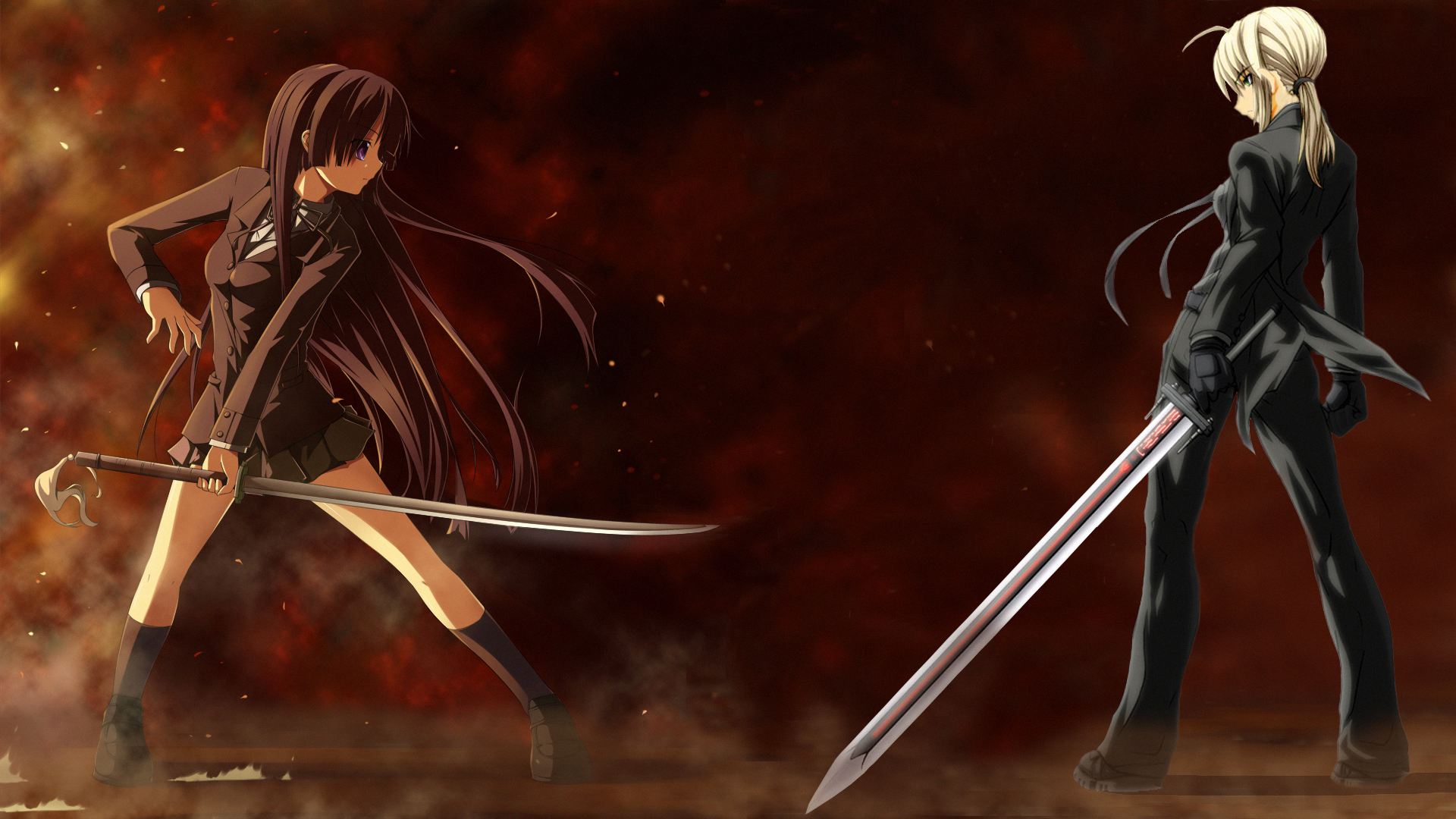 100 Wallpapers de anime HD 5297_1_other_anime_hd_wallpapers_anime_girls_fighting_sword