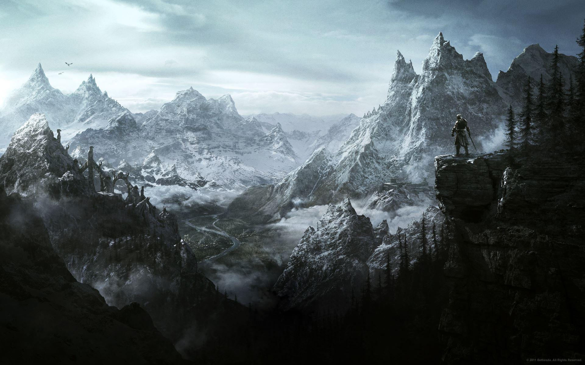 The Elder Scroll V : Skyrim [Xbox360, PS3, PC] 25142_the_elder_scrolls_skyrim_landscape