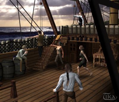 Szene auf einem Schiff