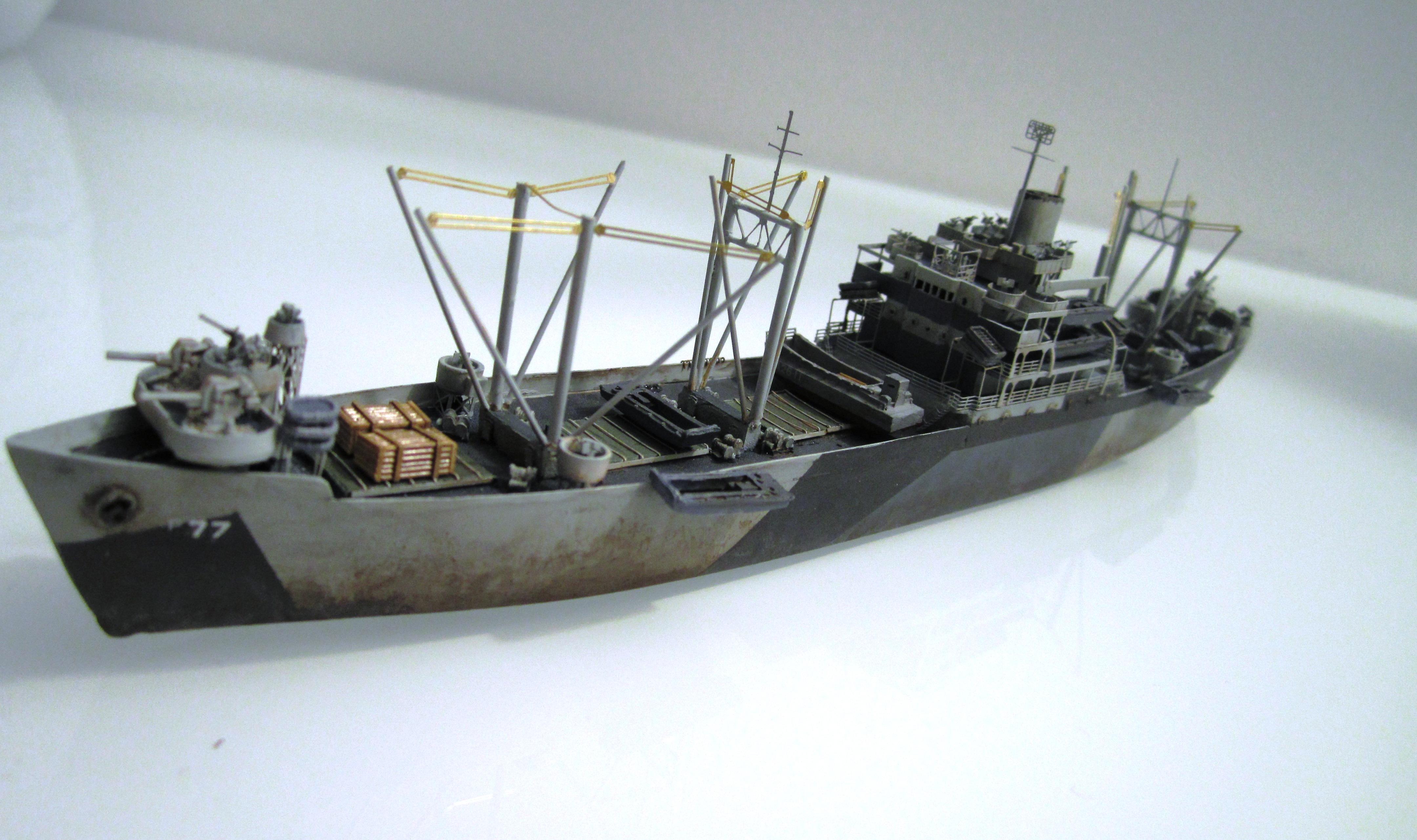 USS Thurston 1/700 à partir du kit Armerican scout de Loose cannon 6GriSkbe