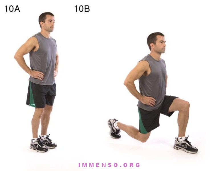 Allenamento specifico x gambe 10-affondi