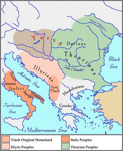 slavların avrupaya yayılışını gösteren bir harita Balkan1stCce