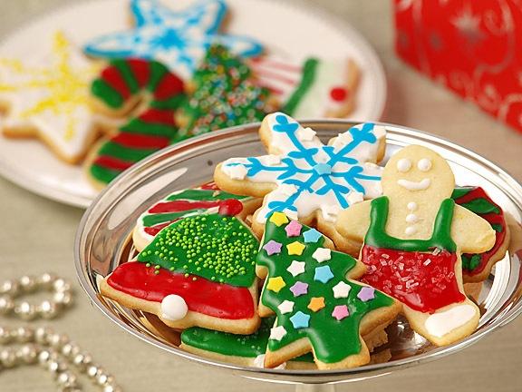 Christmas cookies Colorful-cream-cheese-sugar-cookies
