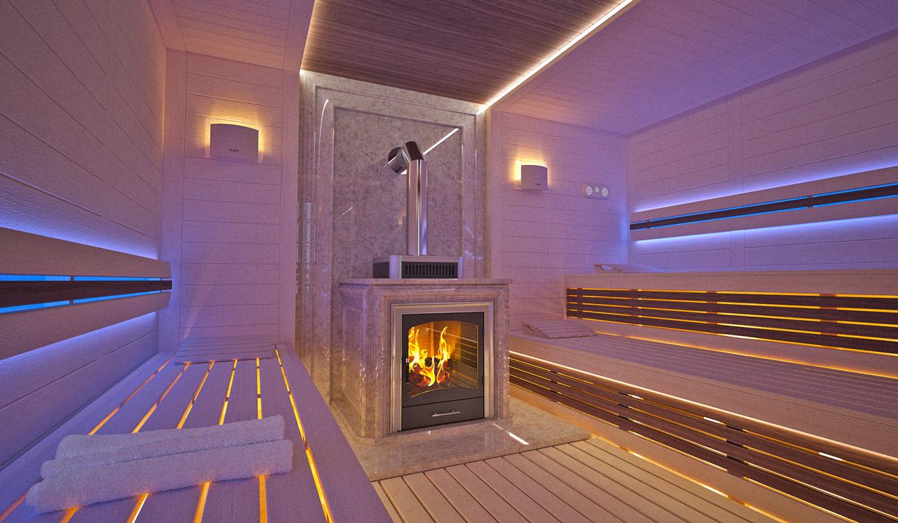 Back in the Heat of Things (Higure/Nariko) Sauna-interior-in-Luxury-Home-Spa-01