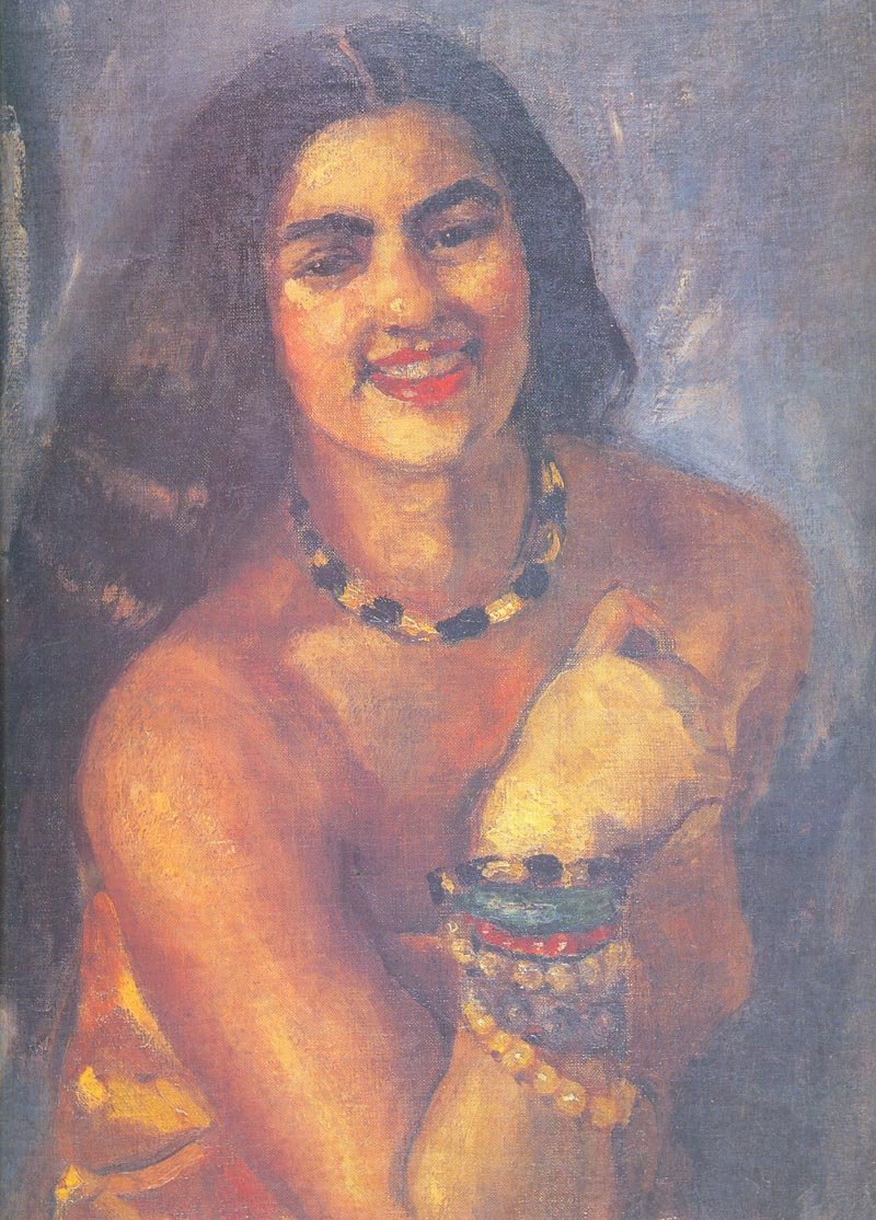 Indijska umetnost Amriti_Self_Portrait