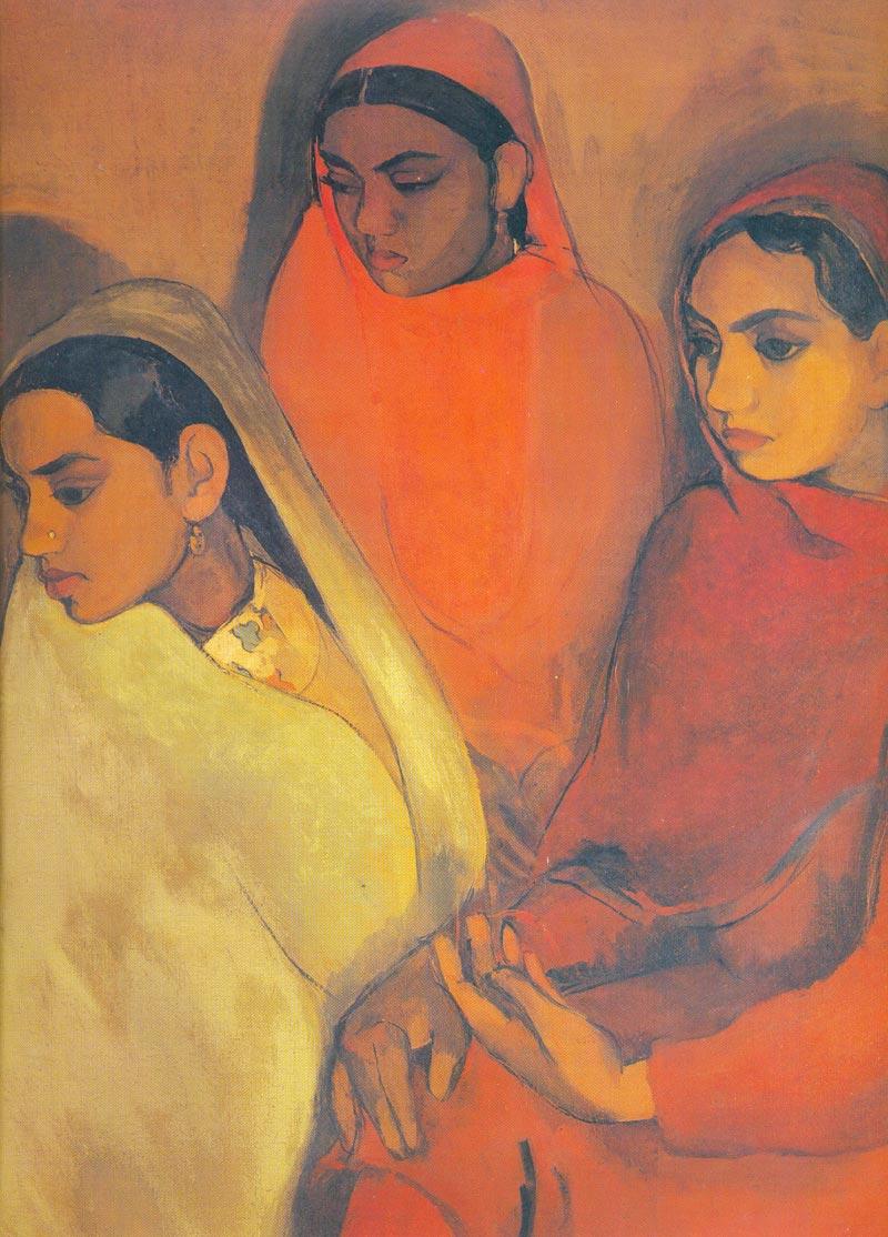Indijska umetnost Amriti_Three_Girls
