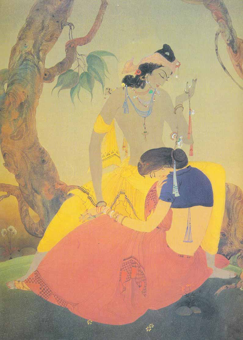 Indijska umetnost Chughtai_Dream