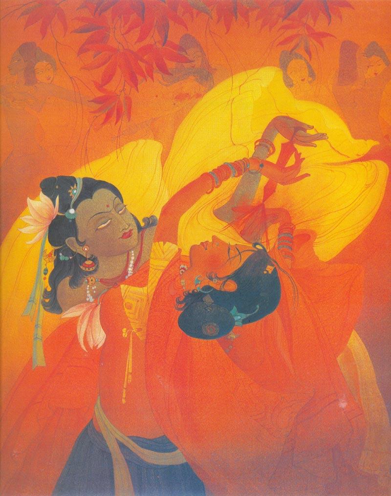 Indijska umetnost Chughtai_Holi