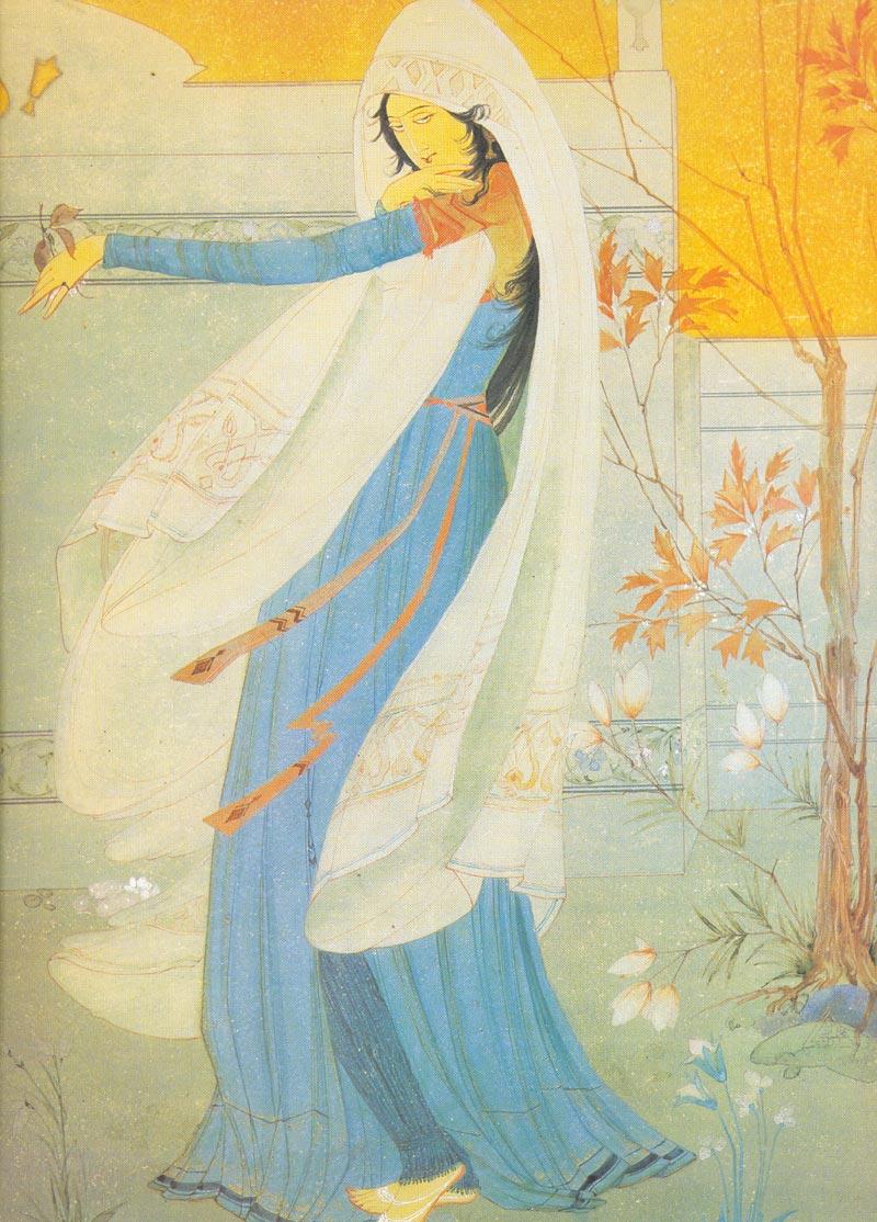 Indijska umetnost Chughtai_Omar_Khayyam