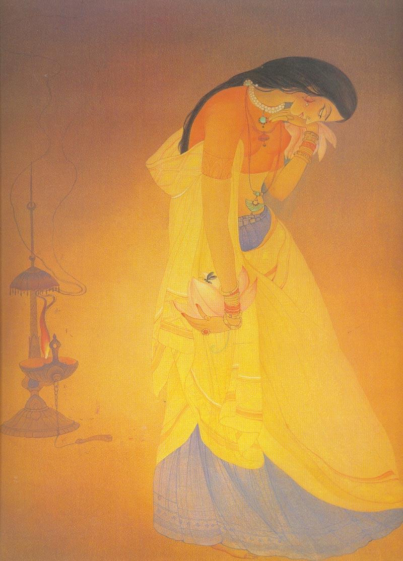 Indijska umetnost Chughtai_Radhika