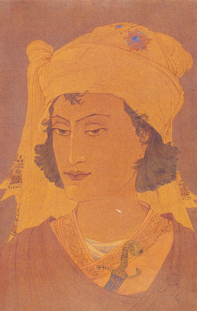 Indijska umetnost Chughtai_Son_of_Warrior