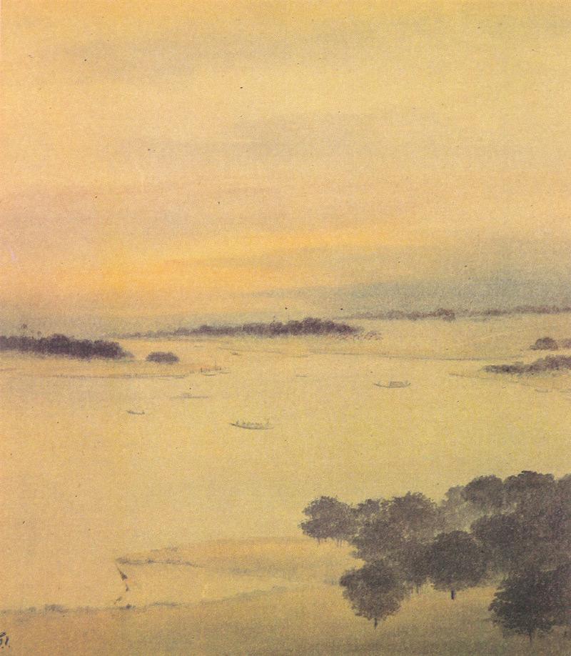 Indijska umetnost G_Tagore_Bengal_Landscape