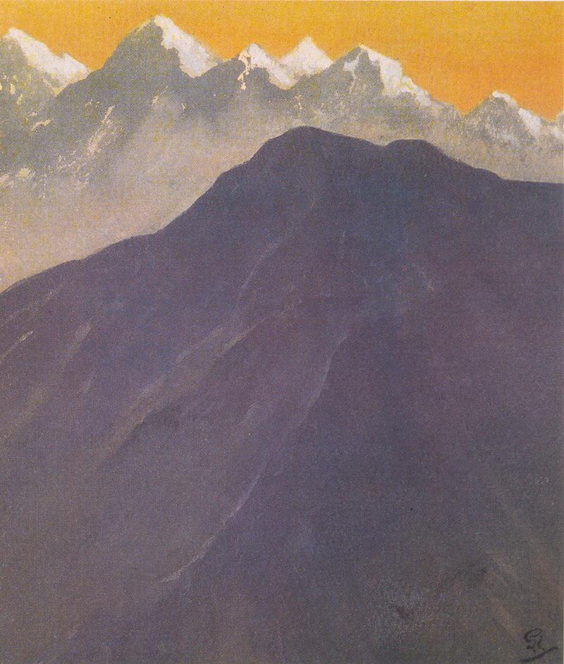 Indijska umetnost G_Tagore_Blue_Mountain