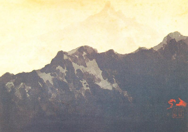 Indijska umetnost G_Tagore_Himalayas