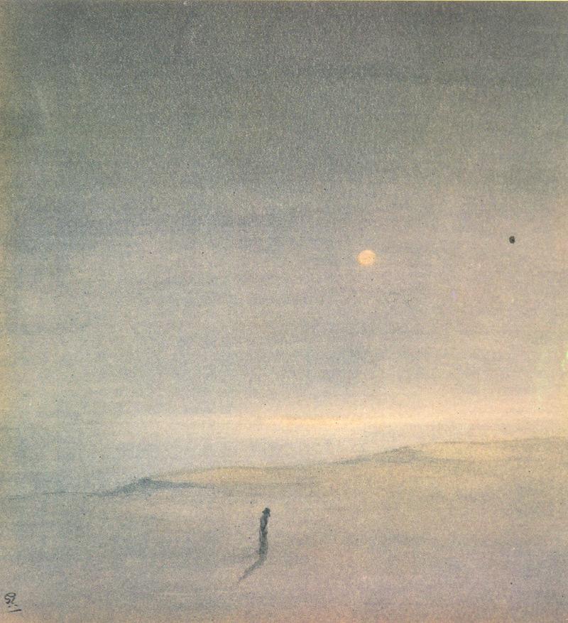 Indijska umetnost G_Tagore_Moon_on_Sea