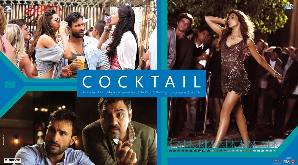 COCKTAIL (2.012) con S. ALI KHAN + Vídeos Musicales + MP4 + Jukebox + Mashup + Making Of + Sub. Español  Cocktail-Poster