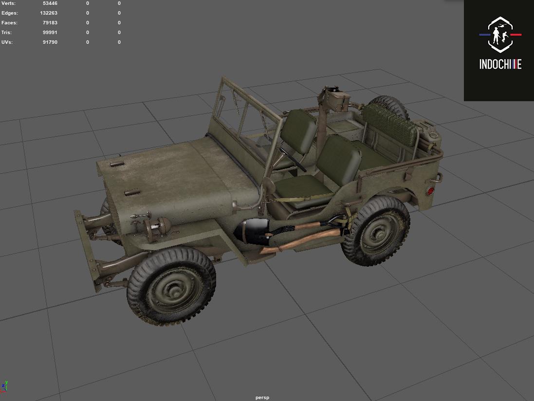 Reconstitution 3D sur l'Indochine Jeep