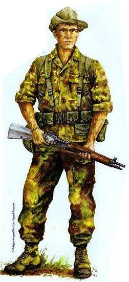 La tenue du légionnaire combattant en  Indochine  année  1950 Legion_1_bep