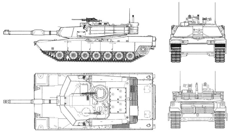M1 Abrams M1A1_USMC_T