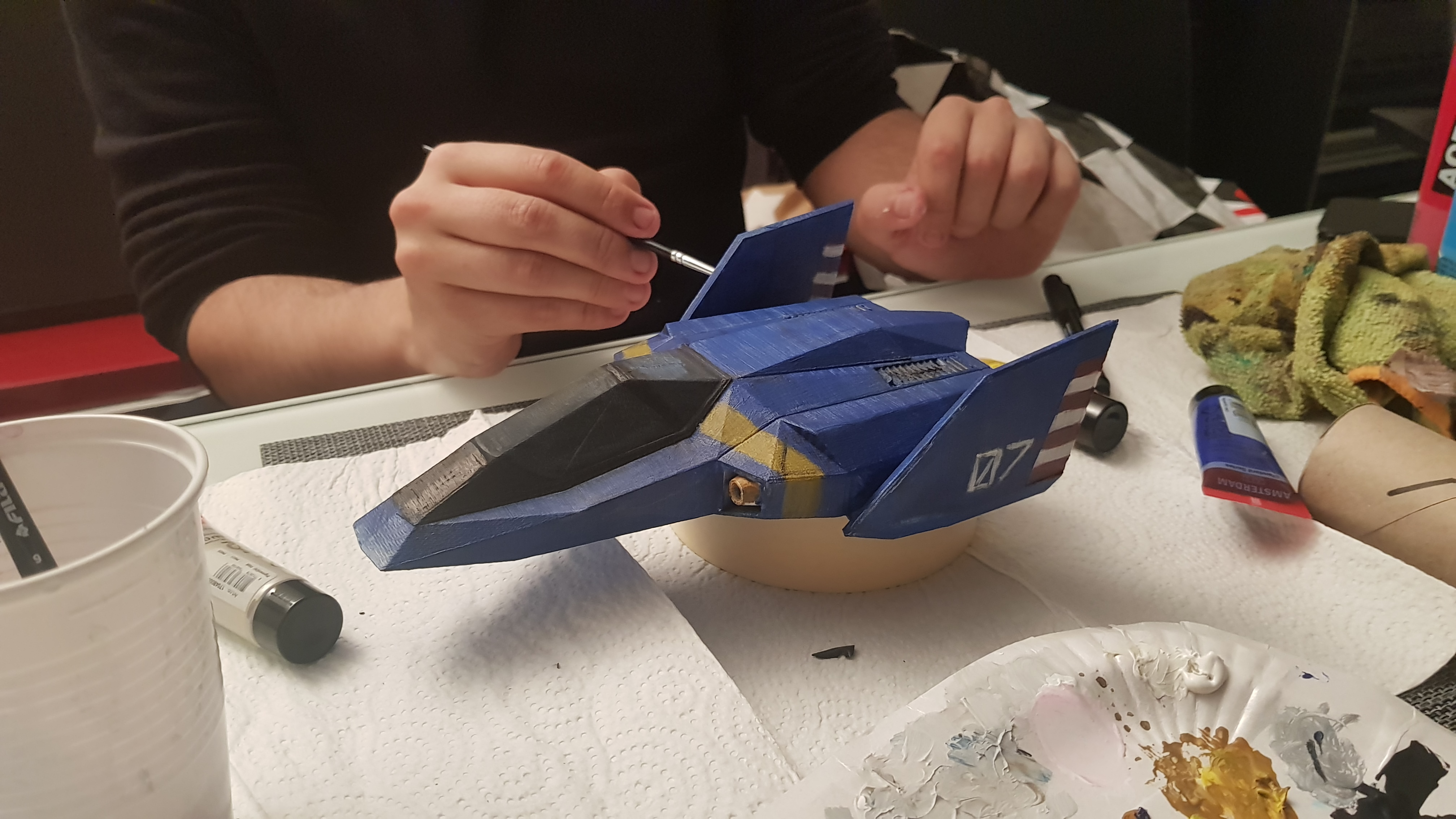 F-Zero : BlueFalcon flottant 20190130_212319