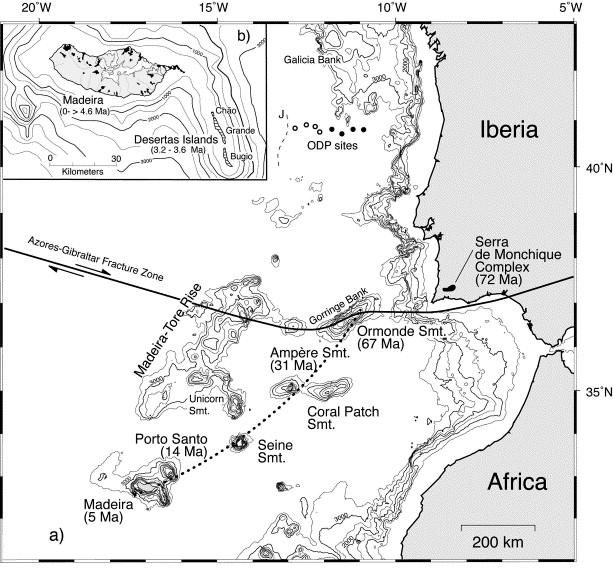 Atlantide : les énigmatiques expéditions soviétiques des années 70 1-s2.0-S0012821X00002661-gr1