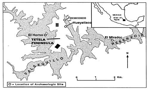 Des outils vieux de 250 000 ans découverts à Hueyatlaco, au Mexique Hueyatlaco-carte1
