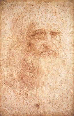 LÉONARD DE VINCI, LE VOYAGEUR DU TEMPS Leonard_de_Vinci_-_autoportrait_-_WGA12798