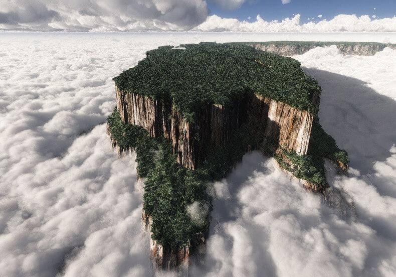 EXISTE-T-IL ENCORE SUR TERRE DES MONDES PERDUS ? Tepuy-venezuela-2