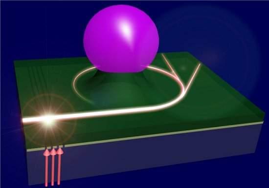Buraco negro dentro de chip confirma teorias de Einstein 010130131004-espaco-tempo-curvo-chip-1