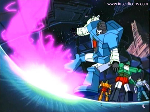 Transformers (G1 us, G1 japonais et Beast Wars) vu dans le générique de Transformers Armada S-Npcs-09