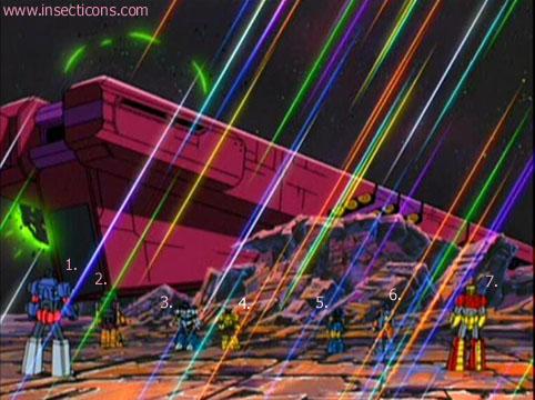 Transformers (G1 us, G1 japonais et Beast Wars) vu dans le générique de Transformers Armada S-Npcs-23