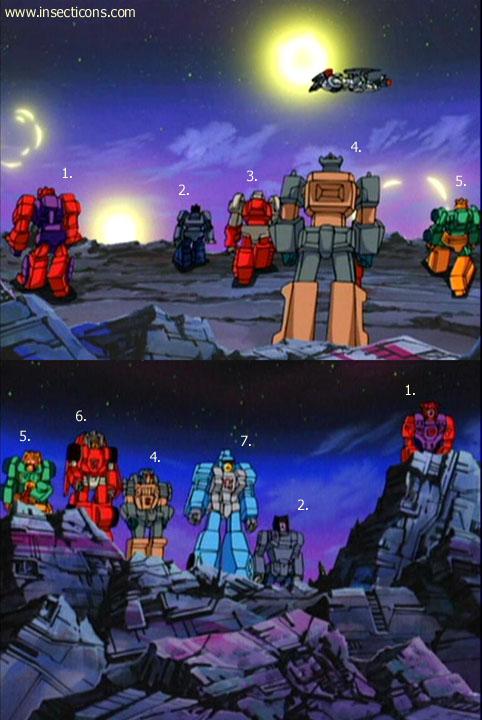 Transformers (G1 us, G1 japonais et Beast Wars) vu dans le générique de Transformers Armada S-Npcs-41
