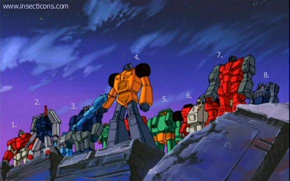 Transformers (G1 us, G1 japonais et Beast Wars) vu dans le générique de Transformers Armada S-Npcs-46